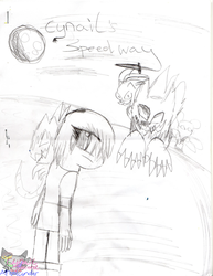 Cynail's speedway comic book sketch by AngelCnderDream14