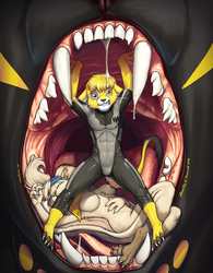 Extinctioners Issue 18 Cover Art by Ebonyleopard