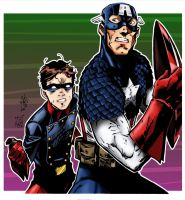 Cap and Bucky Colors by amydrewthat
