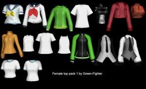 MMD female top pack 1 + DL by Sefina-NZ