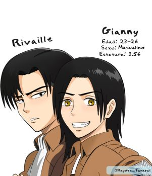 Rivaille x Gianny by Haydee-Takarai