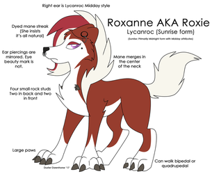 Roxie the Sunrise Lycanroc by Rainbow-Smashed