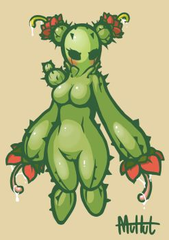 Cute Cactus Girl by MuHut