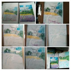 Landscape in soft pastels by Morgaine-Demonia