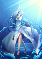 Azura, The Water Songstress by Serrelin