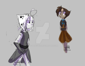 Dalmatian Pearl and Chocolate Pearl by JB-Pawstep
