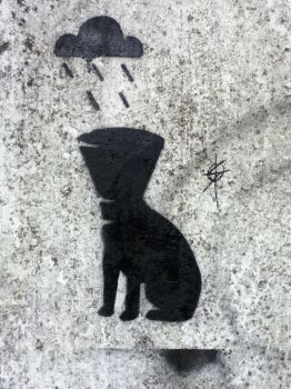 Drowning Dog Stencil by Osi616