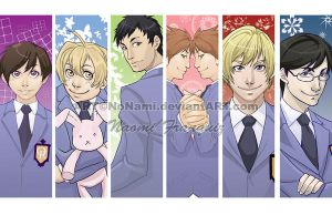 Ouran Host Club bookmarks by No-Nami