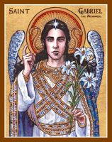St. Gabriel the Archangel icon by Theophilia
