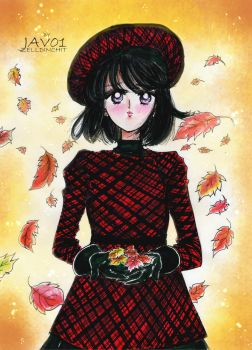 hotaru tomoe - Fall days by zelldinchit
