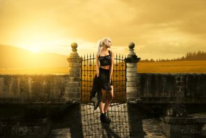 Girl in sunset by ccgreghi