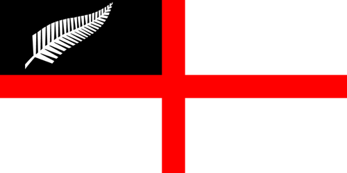 New Zealand Sea/Navy Ensign with Silver Fern by YulianEruannoNoldor