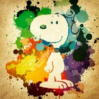Snoopy Splatter by jmascia