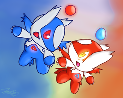 Latios And Latias Chao 2 by Zipo-Chan