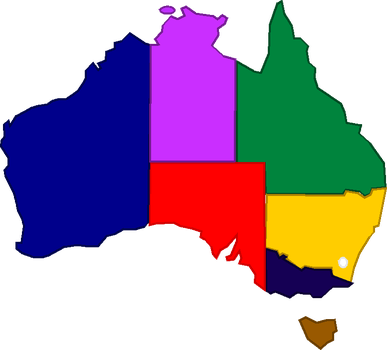 Colorful Australia (without names) by Jordan2048