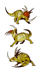 Studies - Styracosaurus by oxboxer