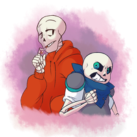 Sans and Papyrus~ by Syndrops