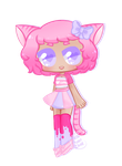 [Adopt extra] - Pink tiger by hello-planet-chan