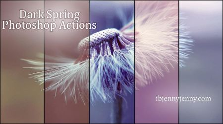 Free Dark Spring Photoshop Actions by ibjennyjenny