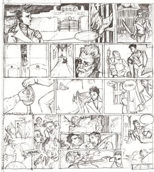 Zombie comic - Draft by Kino-Arcano
