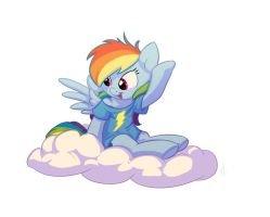 Bronycon print: Rainbow Dash by Siansaar