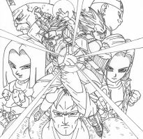 DBZ Android Saga by cheygipe