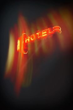 Hotel Red Neon Sign by Stewdog