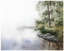 Lake in the forest by Kot-Filemon