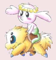 Flabebe and Joltik