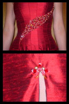 Corset Evening Gown Detail by immortalphoenix