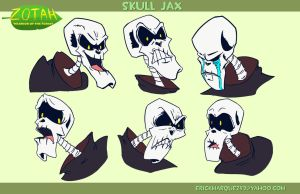 Skull JAX Character Emotions by TheInsaneDingo