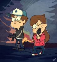 Left 4 Gravity Falls by Pa-Go