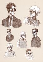 Good Omens: Aziraphale and Crowley by analmouse