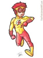 Kid Flash Chibi by FoxyTeah