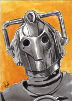 Doctor Who Cyberman sketchcard by RobertHack