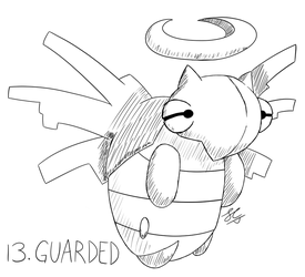 Inktober Day 13: Reserved Shedinja by Seathorne
