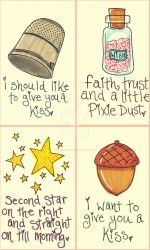 Peter Pan Post Cards by Pinkie-Perfect