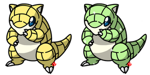 Pokemon #027 - Sandshrew by Fyreglyphs