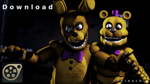 SFM | Fredbear and Springbonnie | Download by Tyrexchip