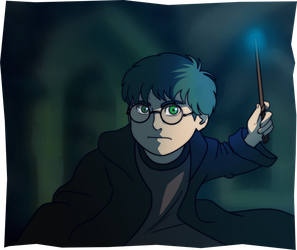 Harry Potter: Blue by wasting-air