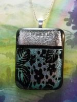 Silver Garden Fused Glass by FusedElegance
