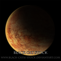 Rocky planet stock by black-cat16-stock