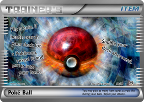 Fake Poke Ball Card by icycatelf