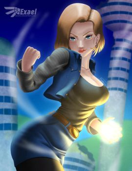 Android 18 by exaelart