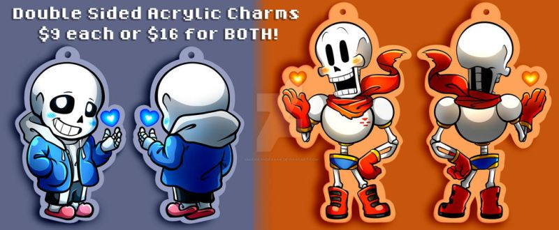 UT: Sans and Papyrus CHARMS (PRE-ORDER IN DESCR) by Smudgeandfrank