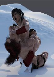 Sylva and Pumpmonger's Red fight in the snow 12 by SavageSylva