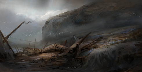 Coast after the storm by TitusLunter