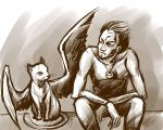 Bonhart with Cat by Aniril-Amakiir