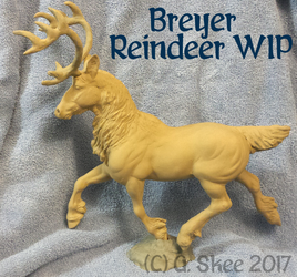 Breyer Reindeer WIP by tyreenya