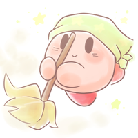 Cleaning Kirby by kirbygirl20